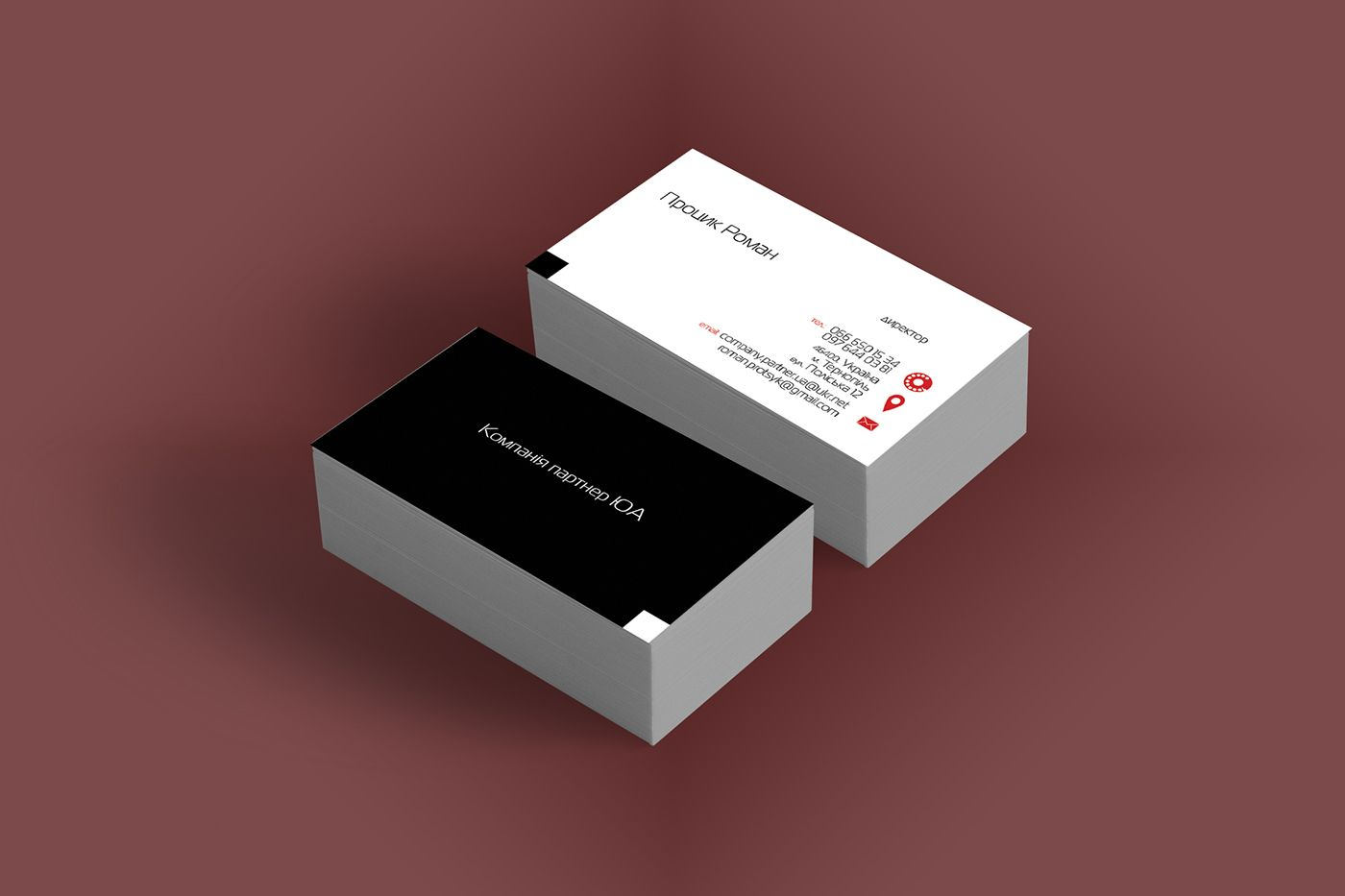 Behance :: Editing visit cards