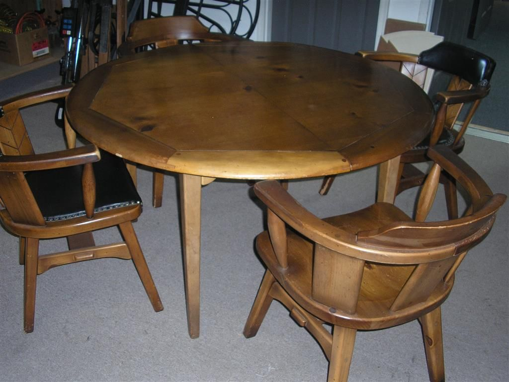 Habitant Knotty Pine Complete Dining Set Made In Bay City