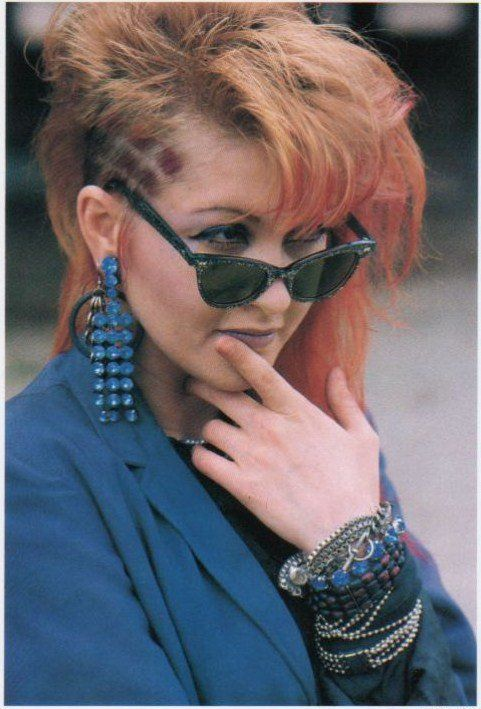 cyndi lauper  i still want to shave my hair like this