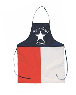 """Our """"Deep in the Heart of Texas"""" makes the best gift for the Texas chef in your life! USA Made in Texas ,of course! Heavy cotton twill, one size fits most. www.desden.com"""