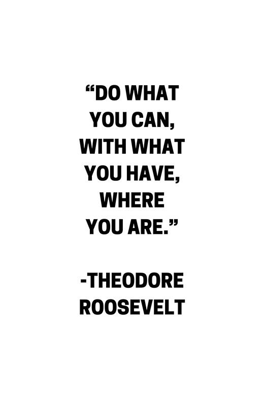 DO WHAT YOU CAN - MOTIVATIONAL QUOTE Photographic Print by IdeasForArtists