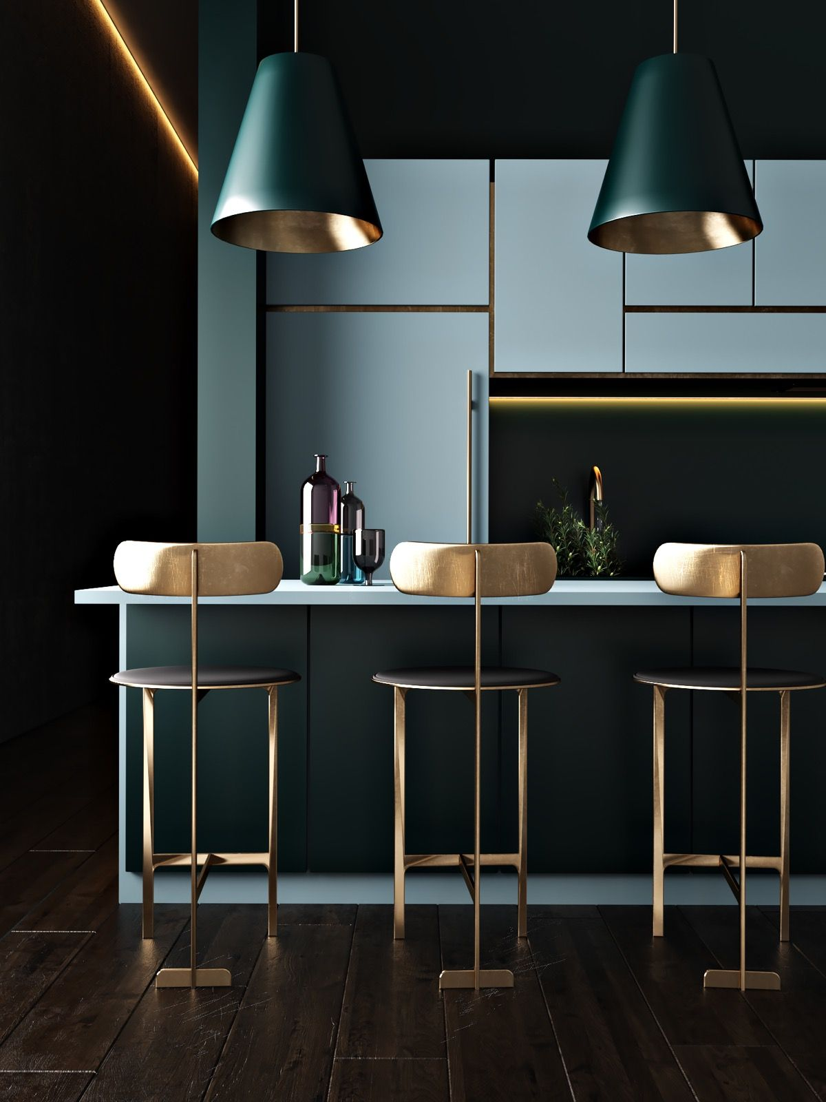 30 schöne blaue Küchen, um Ihren Tag zu erhellen #bluegreykitchens