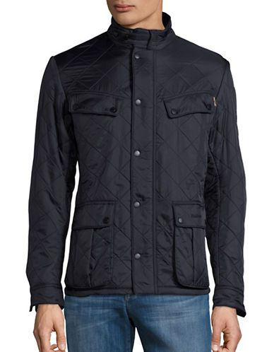 Barbour Quilted Jacket Men's Navy X-Large
