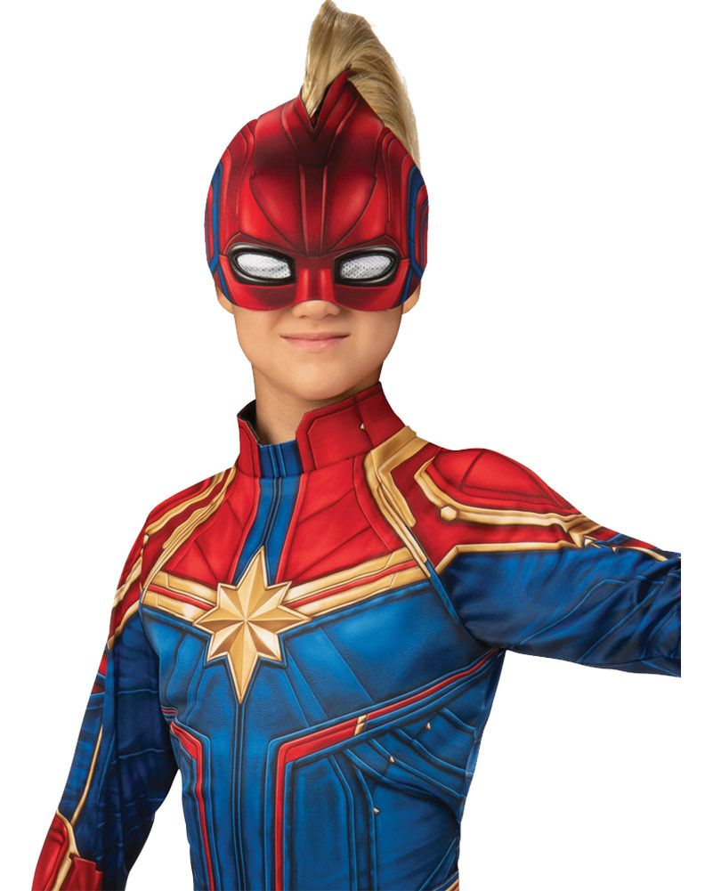 Girls Captain Marvel Hero Suit Superhero Costume