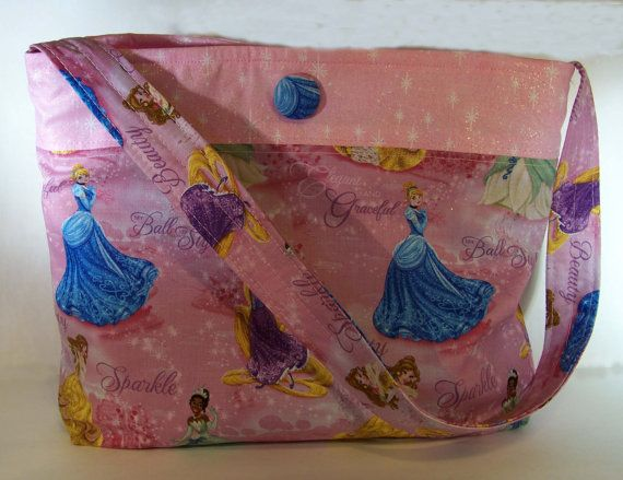 Girls Handmade Over Night Pink Tote by DJsCraftyCreations on Etsy
