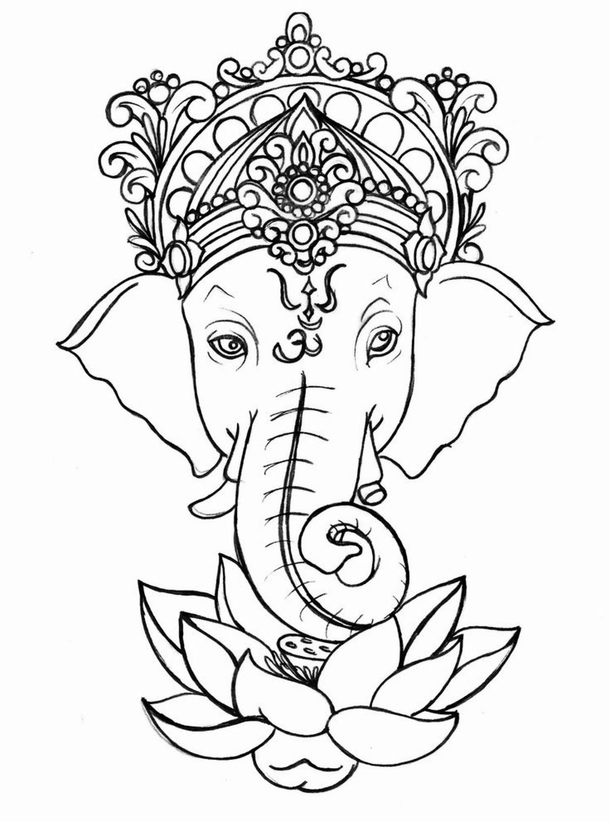 Maybe Something Like Ganesha Perhaps Less Embellished Though Tattoo By Metacharis
