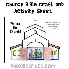 We are the church activity and coloring sheet bible craft for Children s church lessons crafts