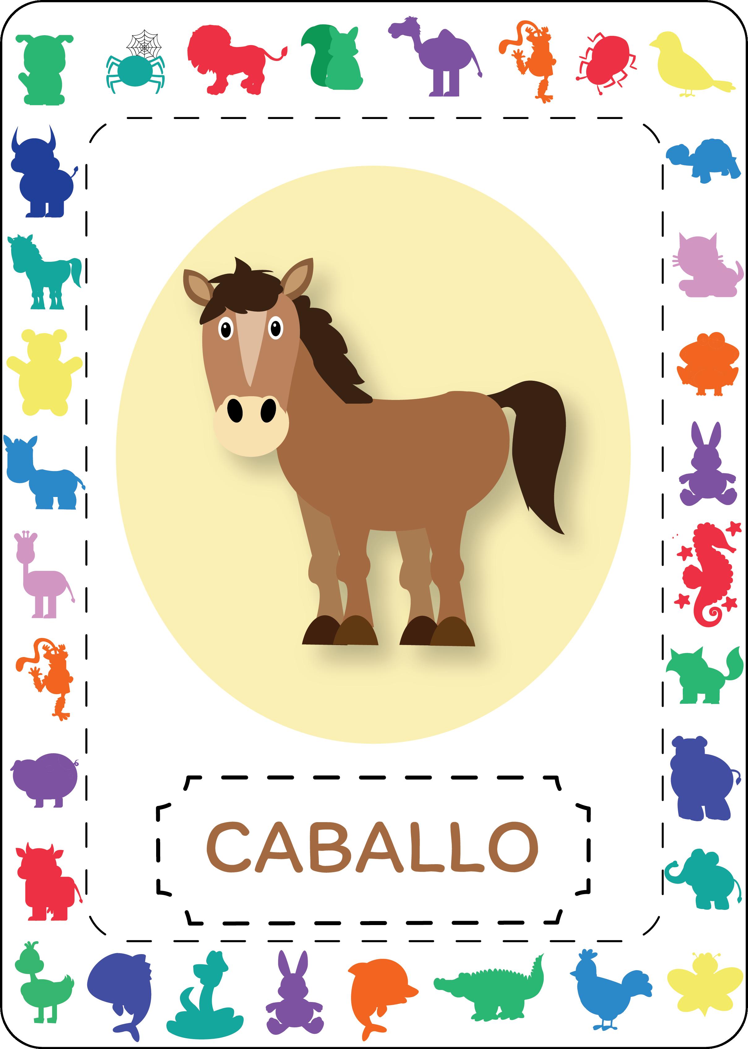 Spanish Animal Themed Flashcards Spanish Animals Animals