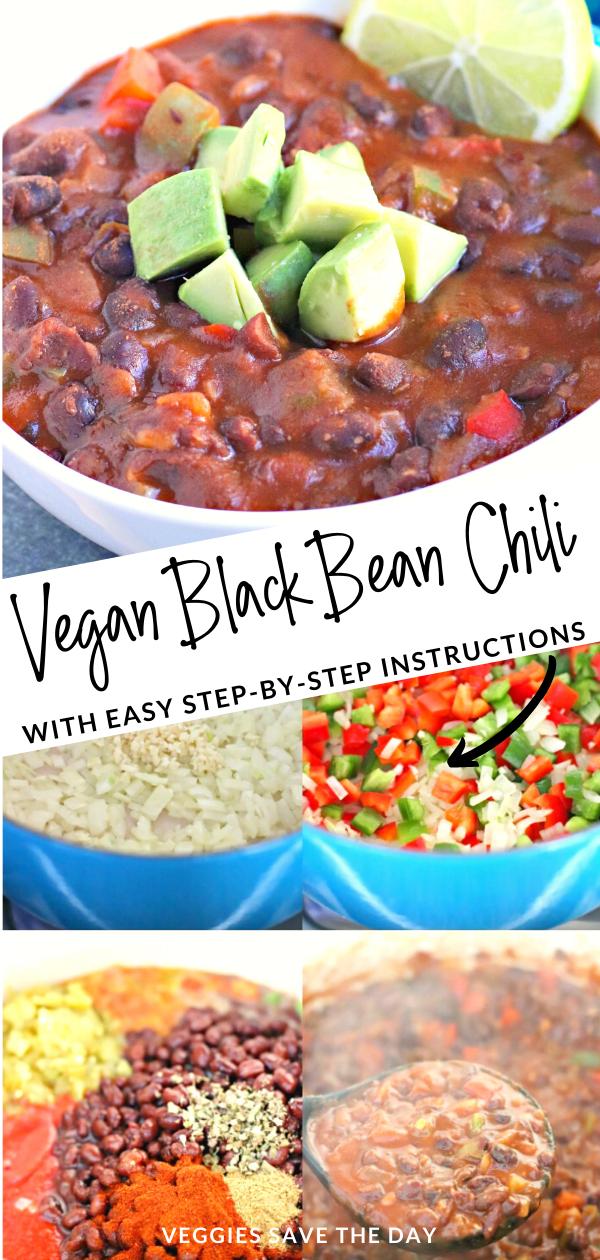 Easy Black Bean Chili Vegan Recipe Vegan Black Bean Chili Chili Recipe With Black Beans Vegan Black Bean Recipes