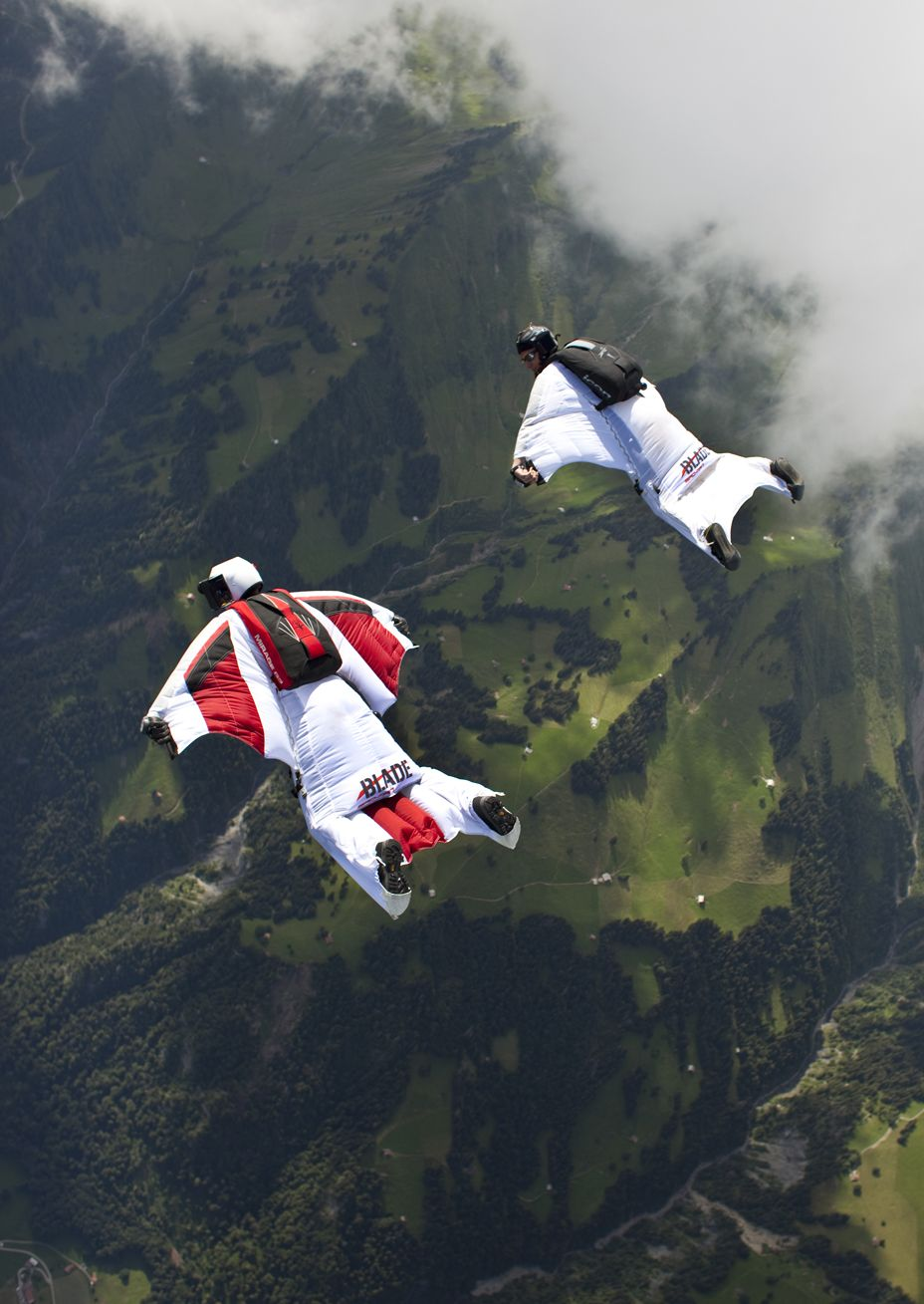 Wingsuit in flight, I am sure I will do it one day