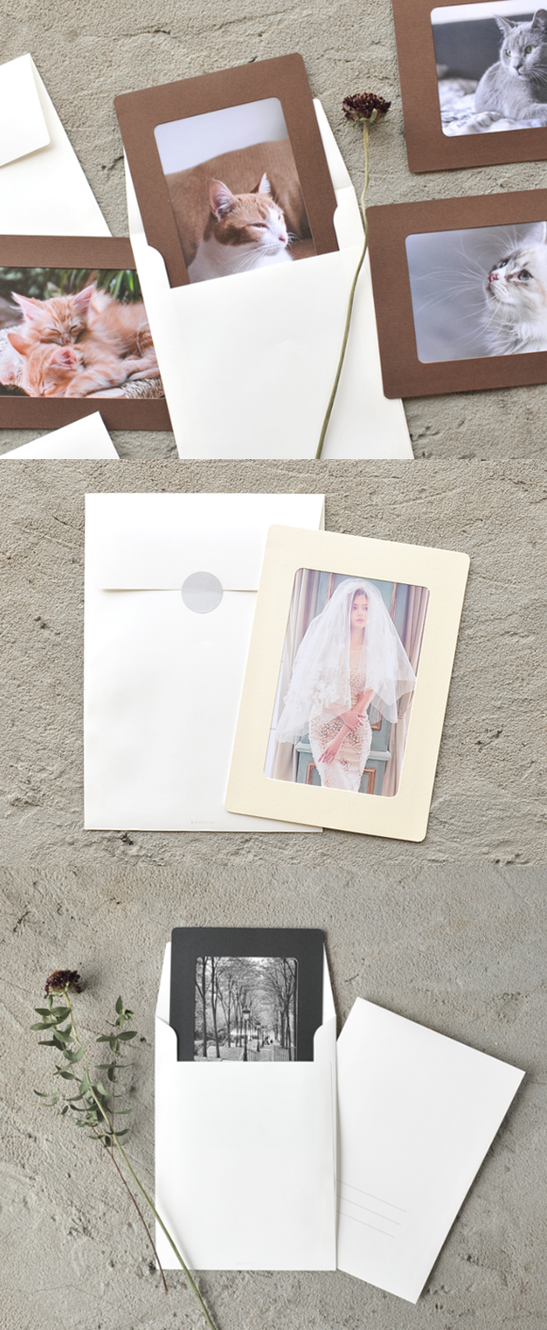 This beautiful paper frame and the clean envelope is a great way to ...
