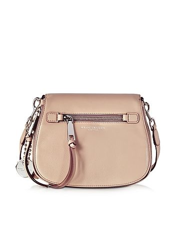 66a4448056 Recruit Nude Leather Small Saddle Shoulder Bag | Carry this | Marc ...