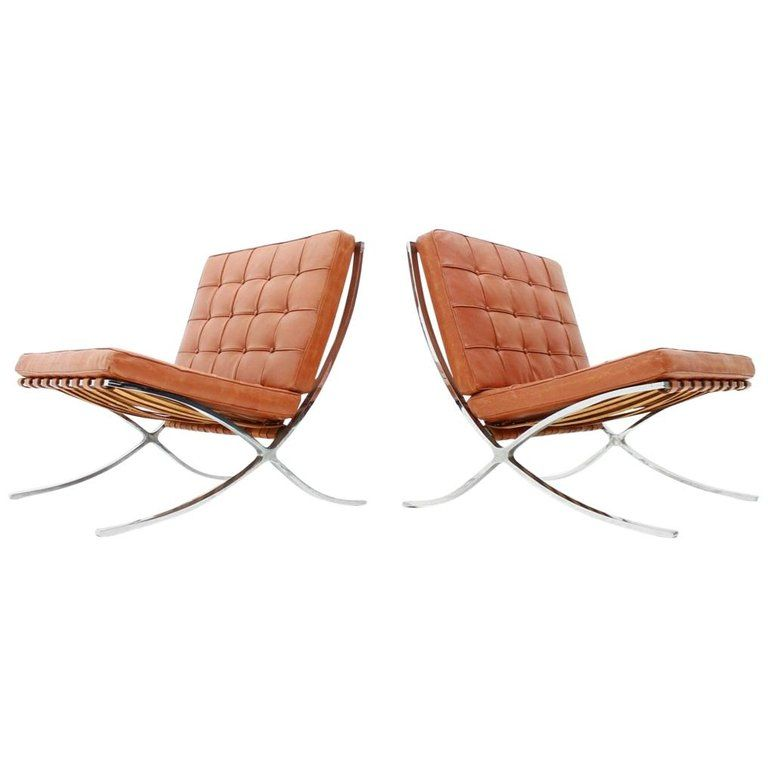 barcelona chairs for sale rocking chair front porch design ideas on 1stdibs very rare set of two by mies van der rohe from a pre knoll production this version the screwed
