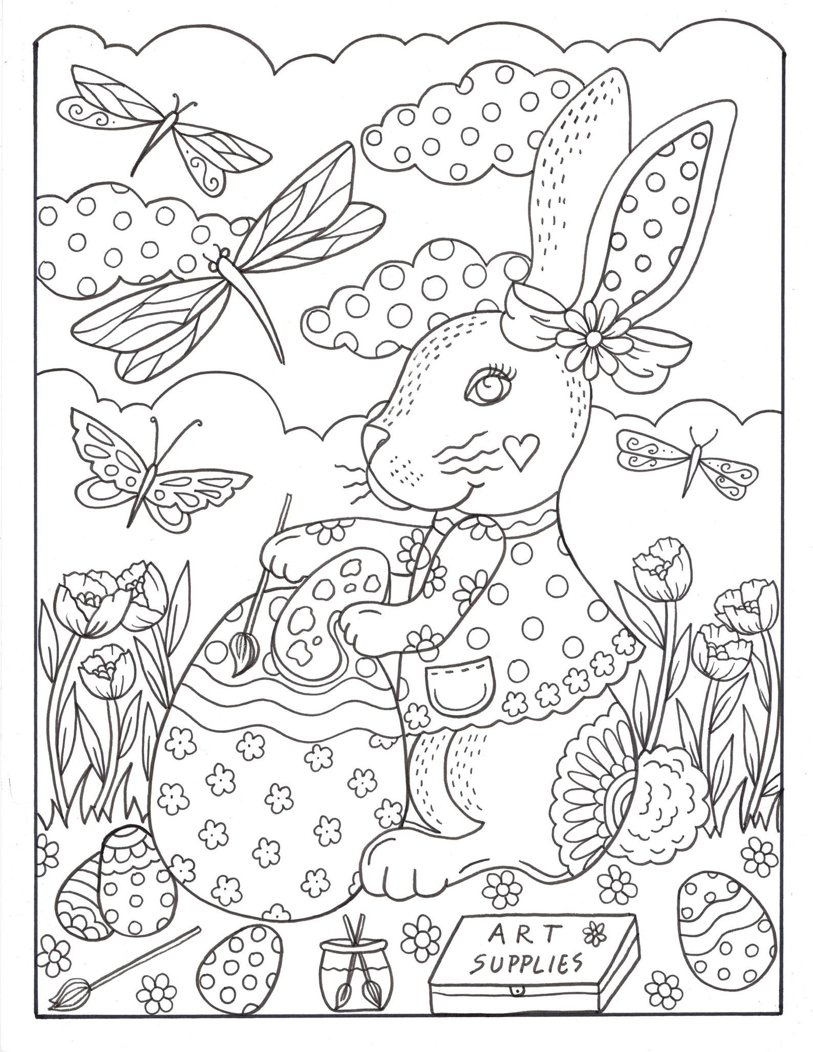 Bunny Love 10 Digital Coloring Pages Downloads Digi Stamps Etsy Bunny Coloring Pages Easter Coloring Pages Printable Easter Colouring