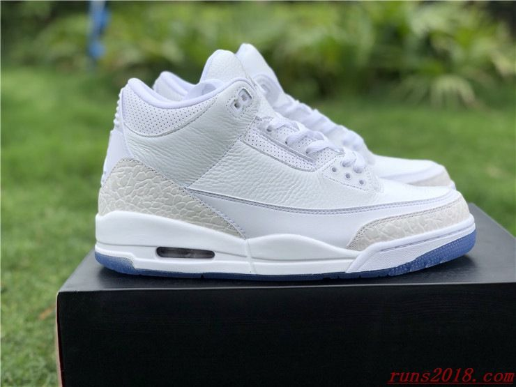 a476c647176 Air Jordan 3 Retro Mens Pure White | Nike Air Jordans in 2019 ...