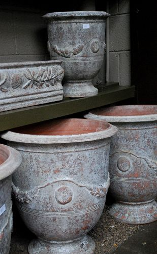 French Vase Anduze in Aged Patina Glaze | Online Garden Store