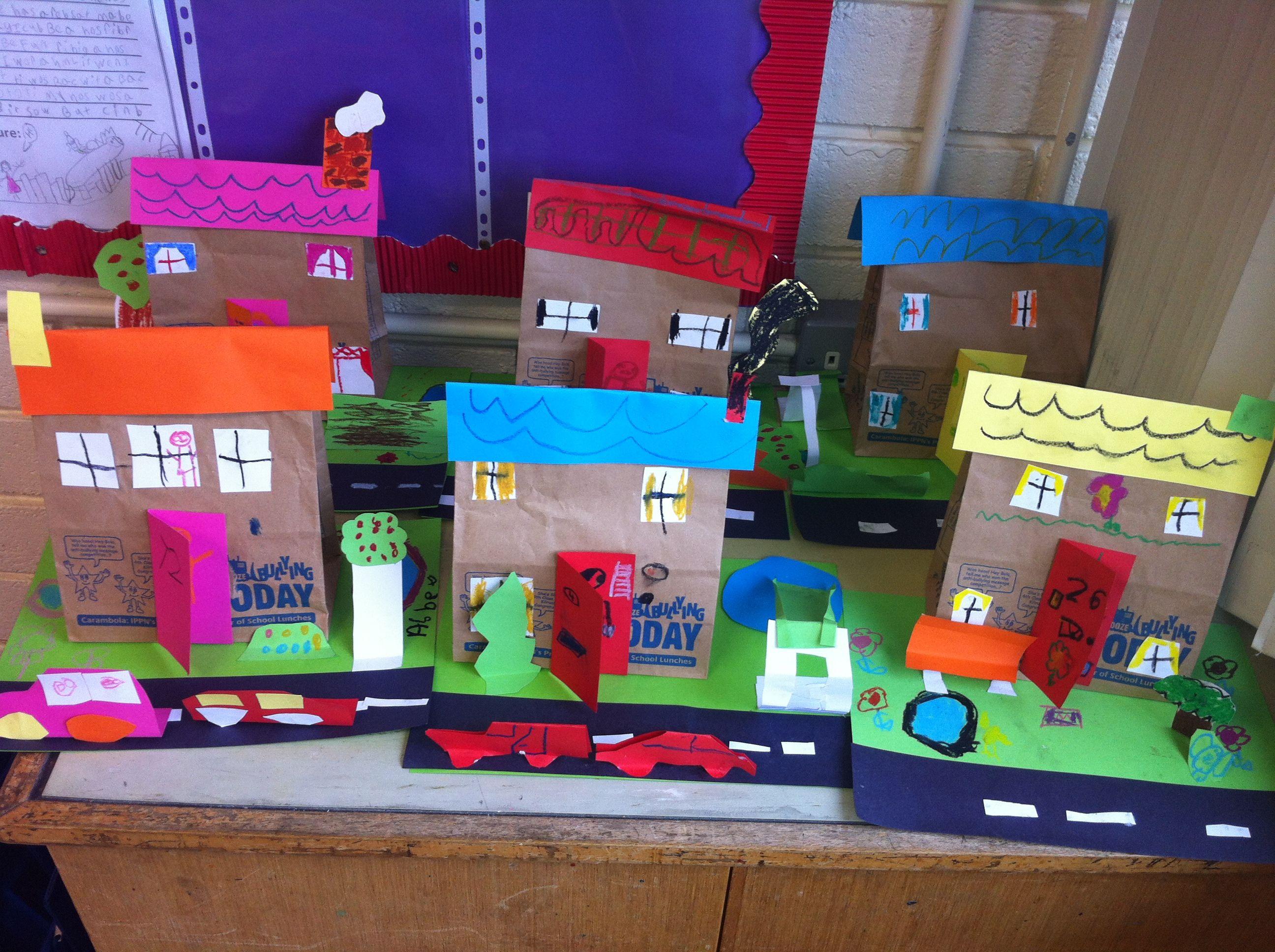 Construction 3d Homes K Community Pinterest Crafts For Kids