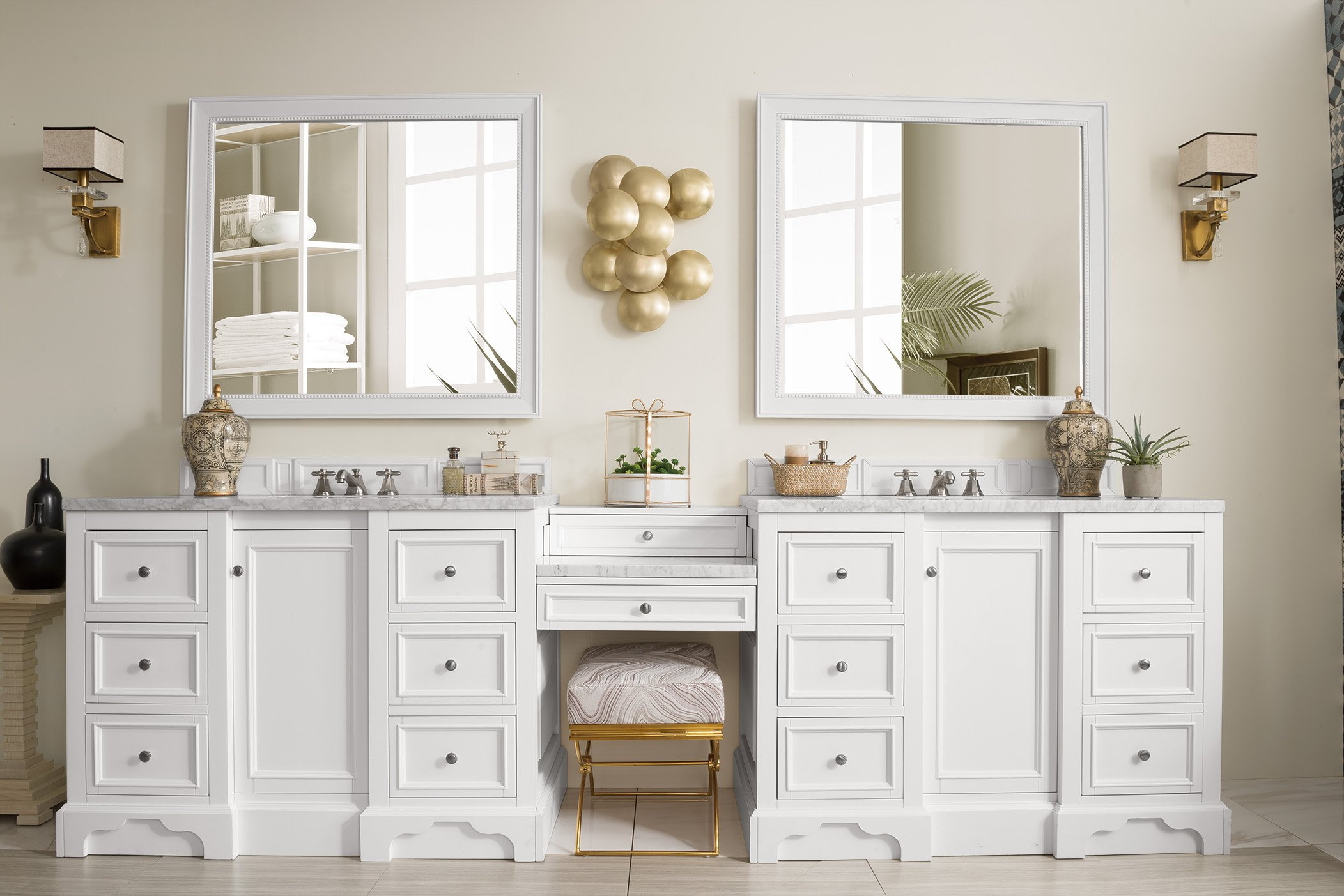 De Soto 118 Double Bathroom Vanity In 2019 Bathroom Sink Vanity White Vanity Bathroom Bathroom