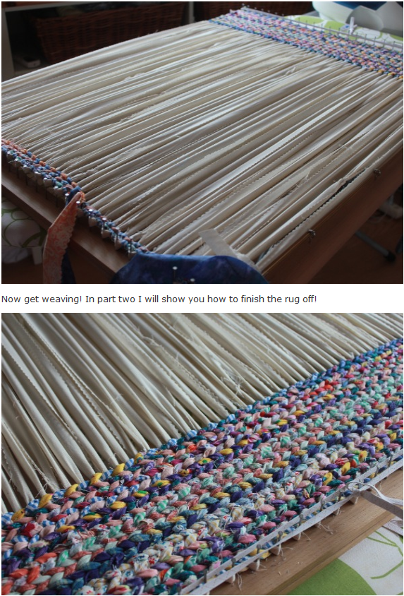 Diy Woven Rag Rugs Great Instructions Crafty Projects