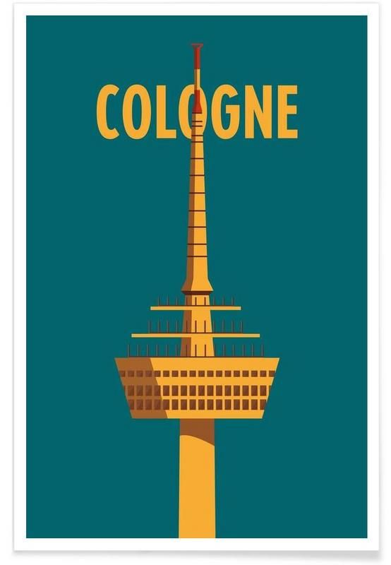 cologne als premium poster von designliga products juniqe k ln travel cologne pinterest. Black Bedroom Furniture Sets. Home Design Ideas