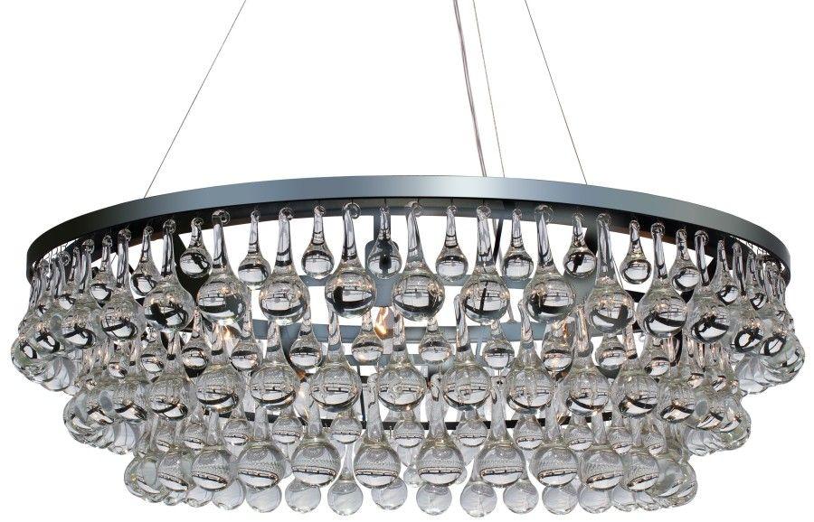 Celeste Gl Drop Crystal Chandelier Chrome Light Up My Home Lightupmyhome