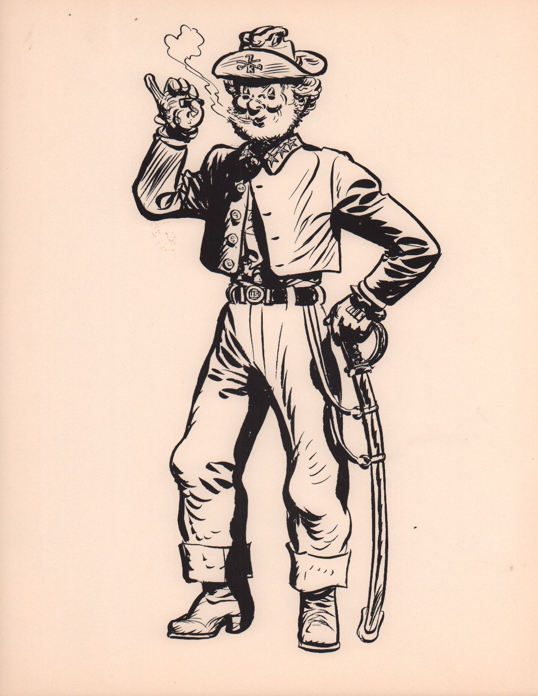 Heres A Character Print Featuring Happy Easter From Steve Canyon Milton Caniff Would Sign And