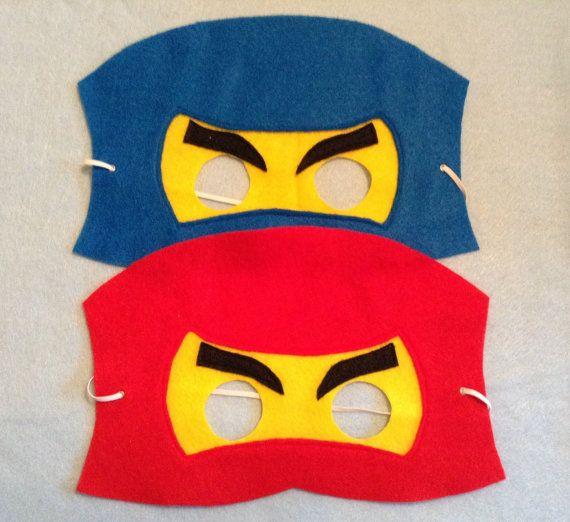 Ninjago Fuhlte Maske Set Enthalt 6 Masken Von Nanandgefavors Ninja Geburtstag Lego Kostum Kinder Geburtstag Ideen