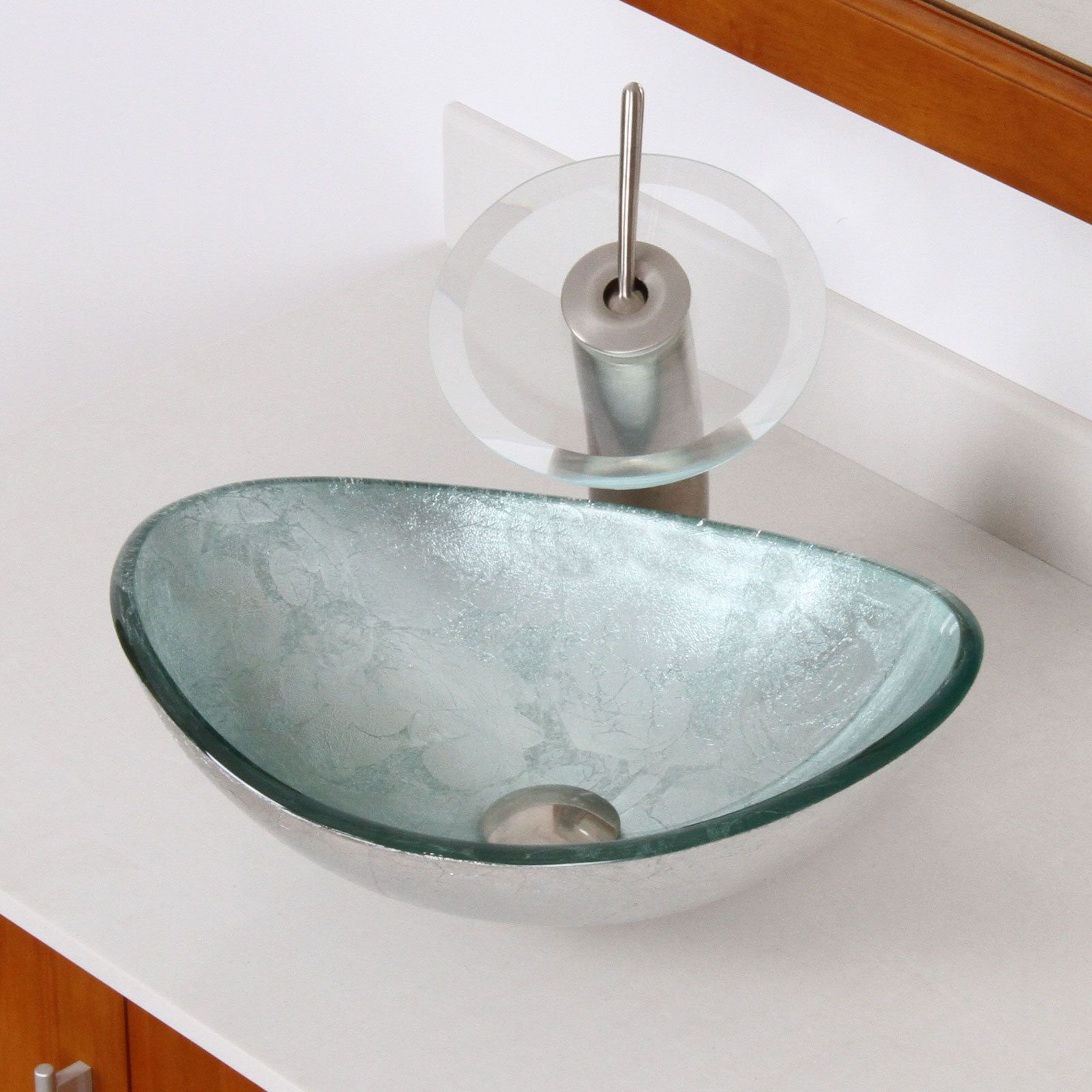 Elegance Products From Elite Brand New Design From Europe This Glass Sink Will Look Fabulous In Any Bathroom Bra Glass Sink Vessel Sink Bathroom Vessel Sink