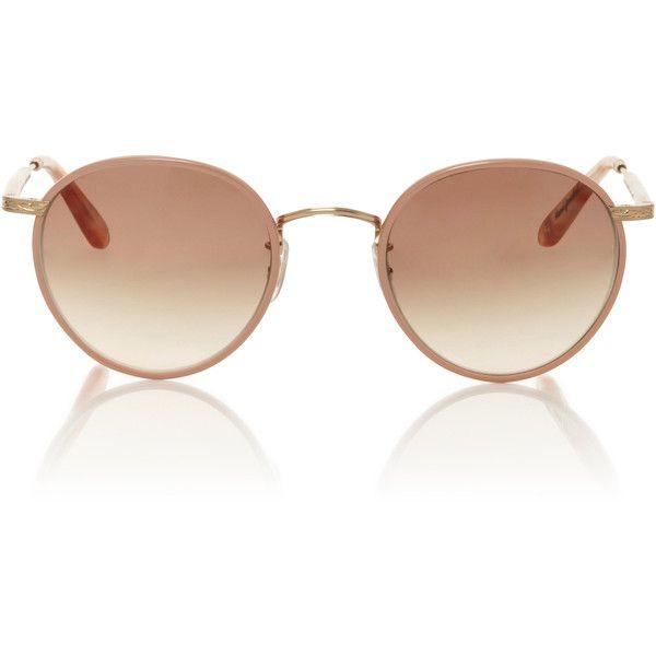 Garrett Leight     Wilson Sunglasses (4.529.140 IDR) ❤ liked on Polyvore featuring accessories, eyewear, sunglasses, pink, garrett leight sunglasses, garrett leight and garrett leight glasses