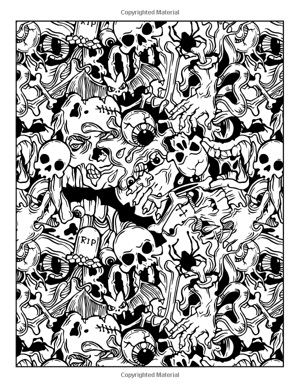 Advanced Halloween Coloring Pages To Print : Coloring pages colouring adult detailed advanced printable