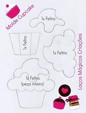 Cup cake feltro