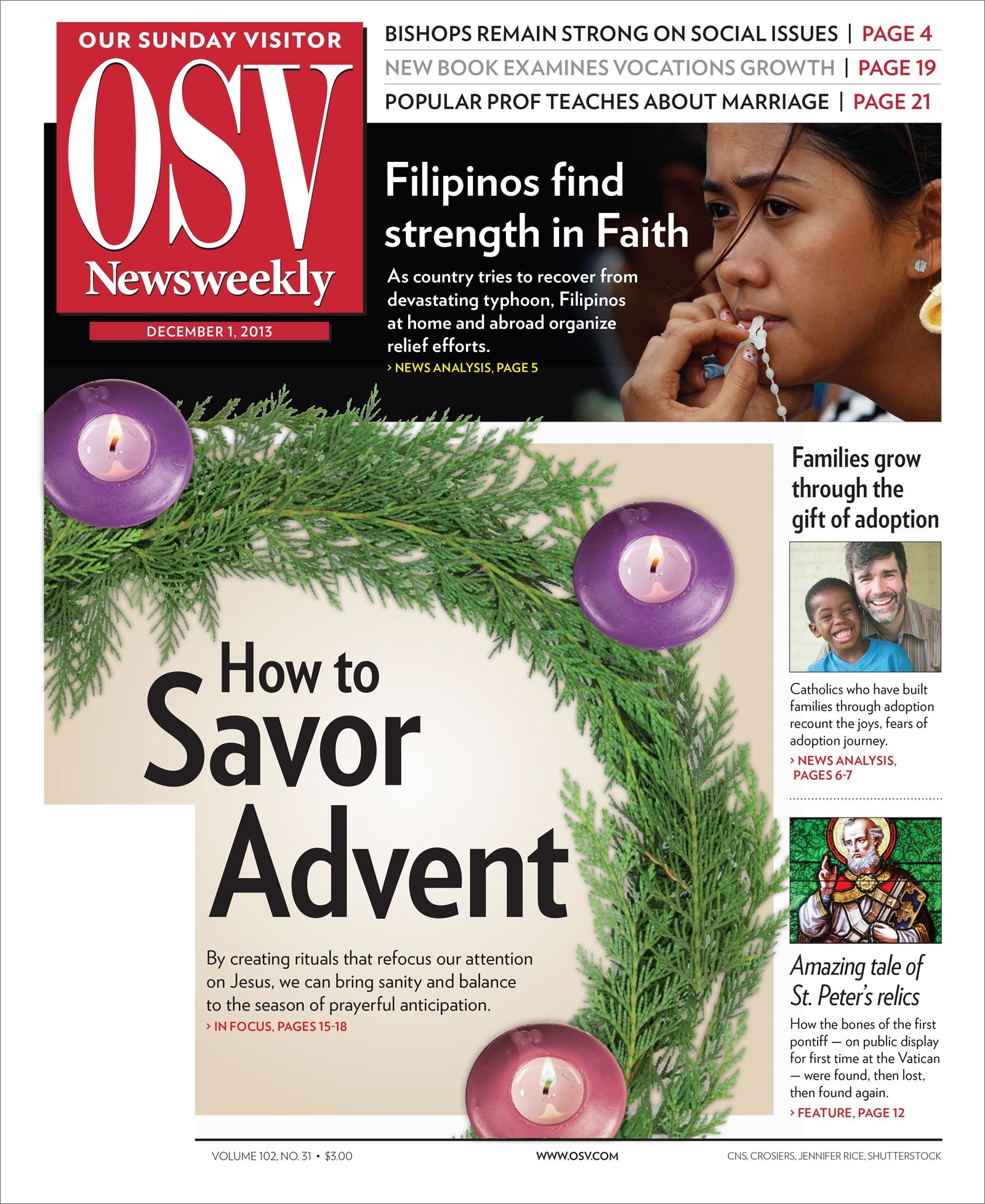 December 1, 2013, issue of OSV Newsweekly.