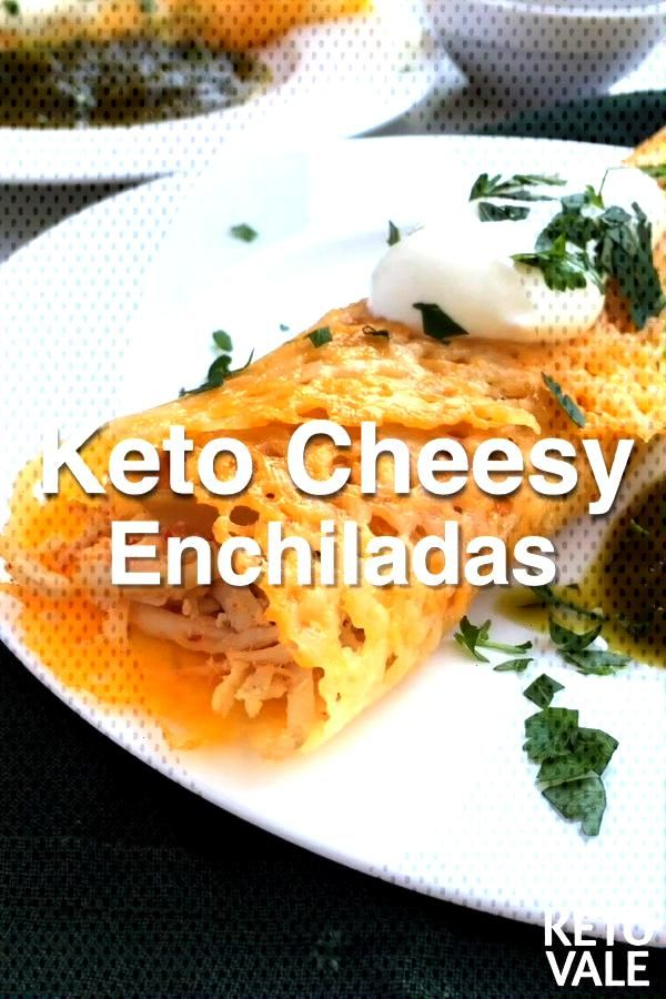 Keto Cheese Tortilla Enchiladas -