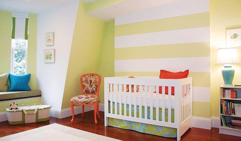 Shelter Interior Design | Striped Walls | Pinterest | Nursery ...