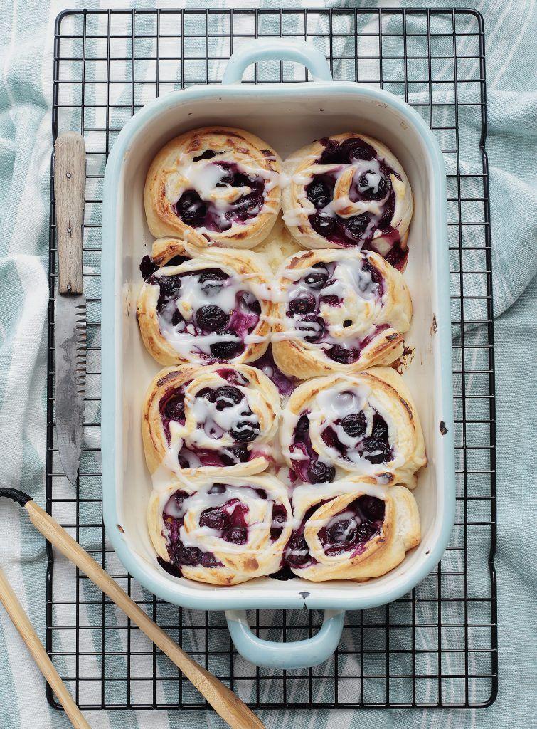 Blitzrezept: Blueberry-Cheesecake-Rolls - Puppenzimmer.com
