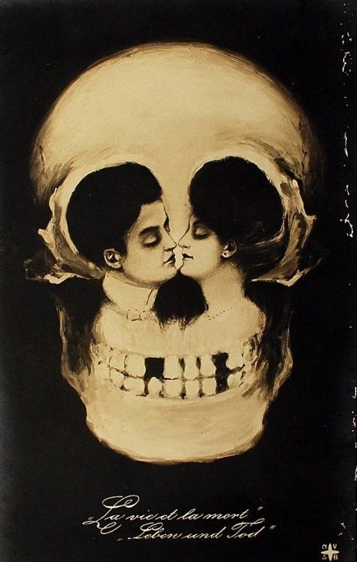 Lovers and skull!
