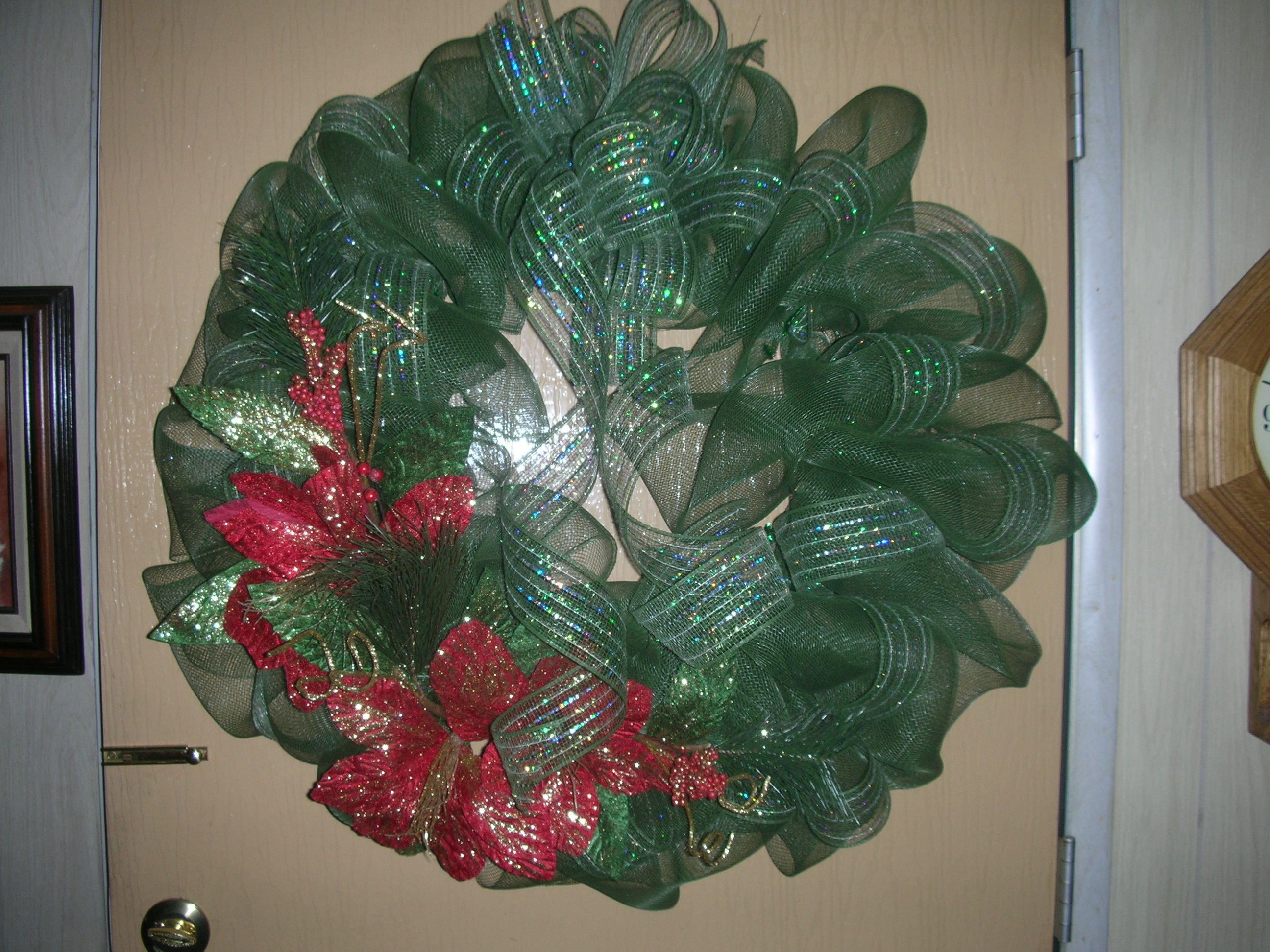 Dura Mesh Wreath Made On An 18 Wire Base Embellished