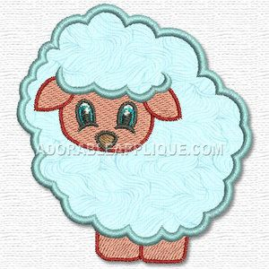 37a1398c3 Machine embroidery applique design - sheep   lamb   ewe. Cute for kids -  nice on baby gifts.