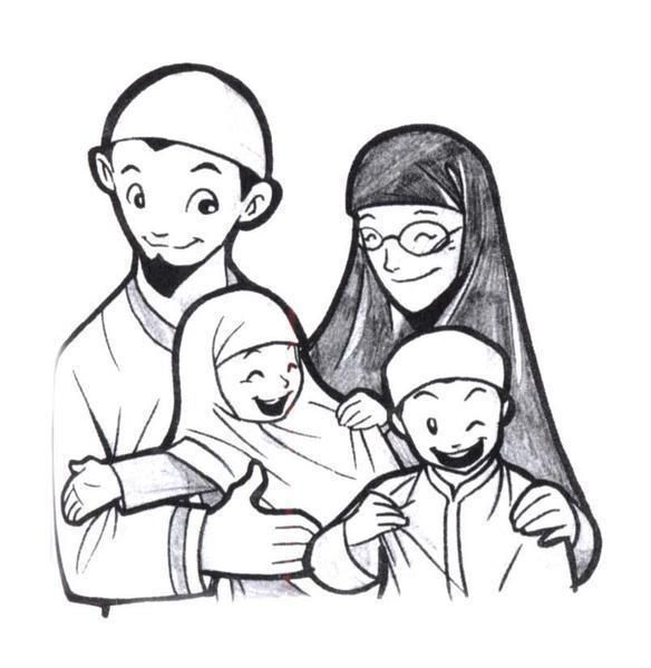 KELUARGA Family Anime Muslimah Islamic Images Art Muslim Women