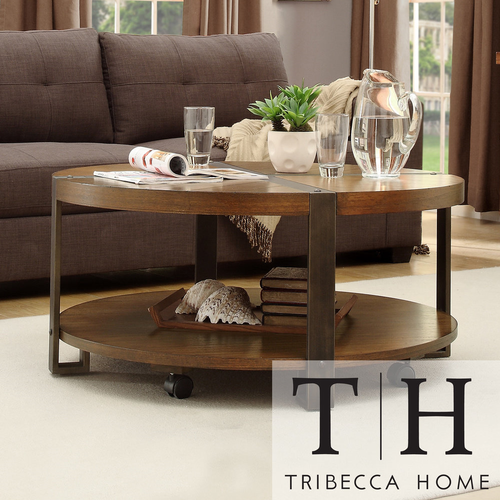 Overstock Table Tribecca Home Lawson Round Cocktail Table Tribecca Home