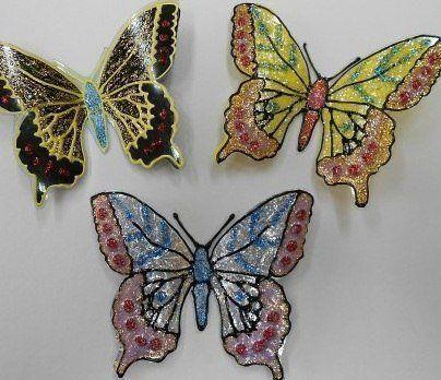 Glitter Butterfly from Plastic Bottles