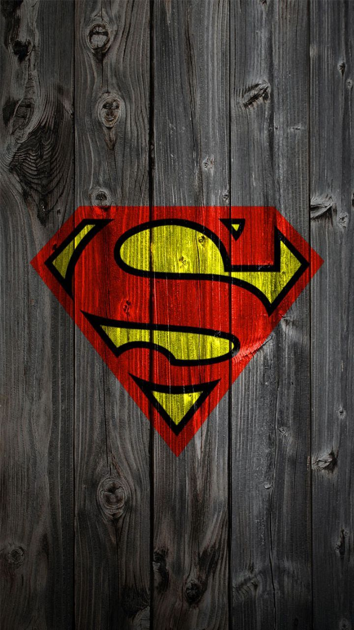 Superman icon logo Wooden Style iPhone wallpapers