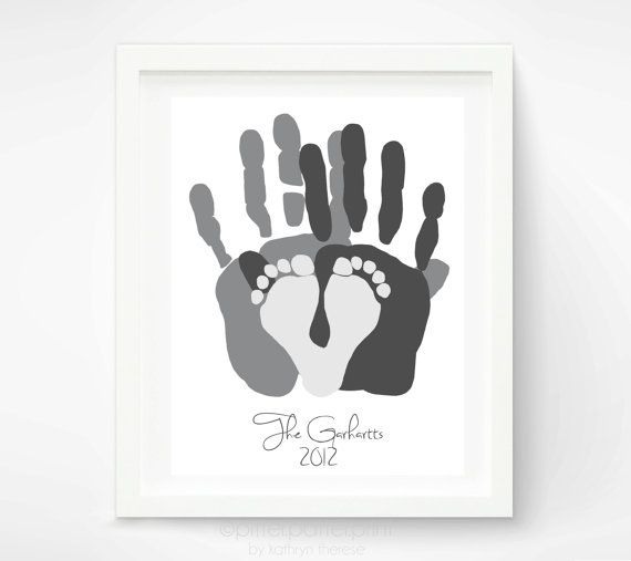 Personalized Family Portrait Gift For New Dad First Fathers Day