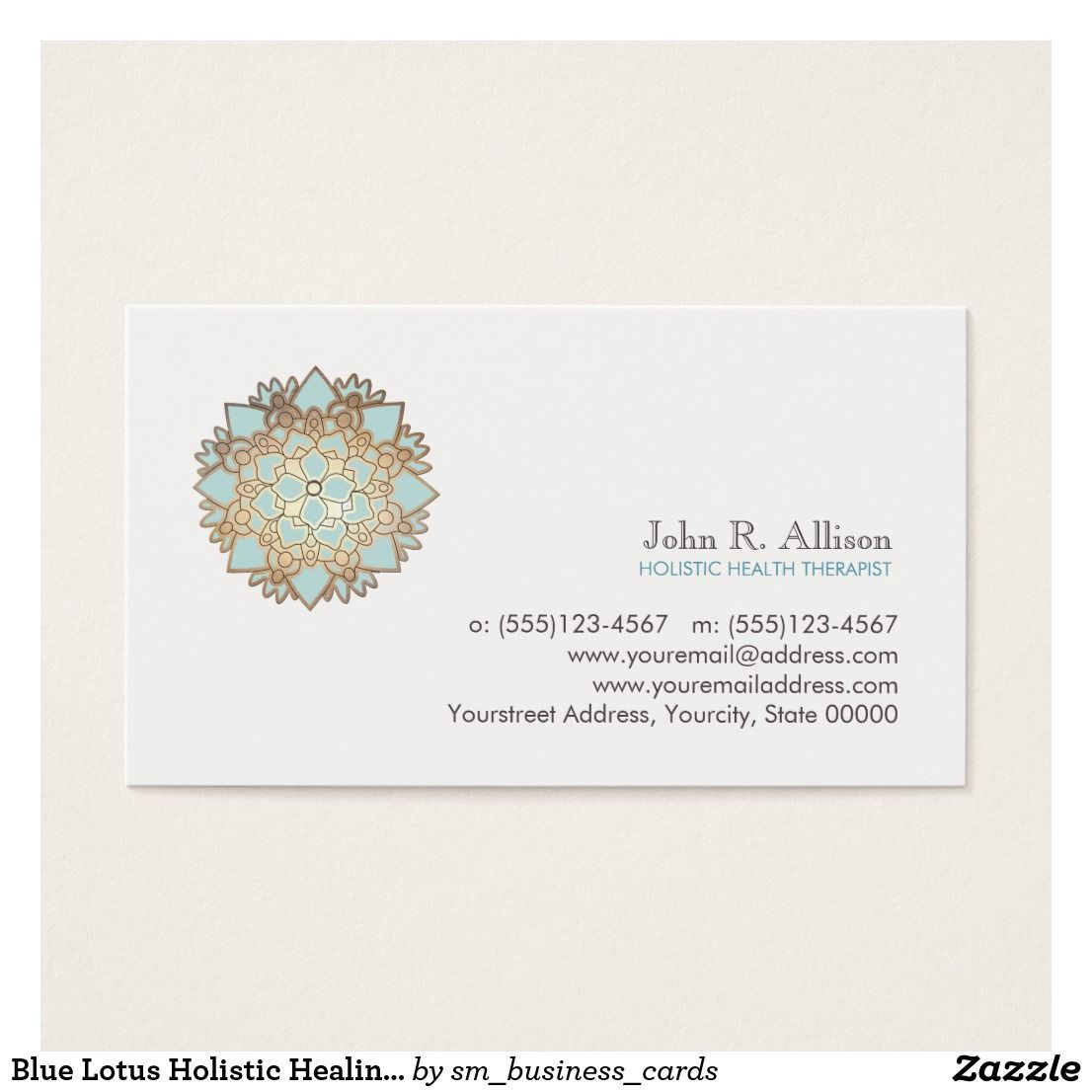Blue Lotus Holistic Healing Arts and Wellness Business Card ...