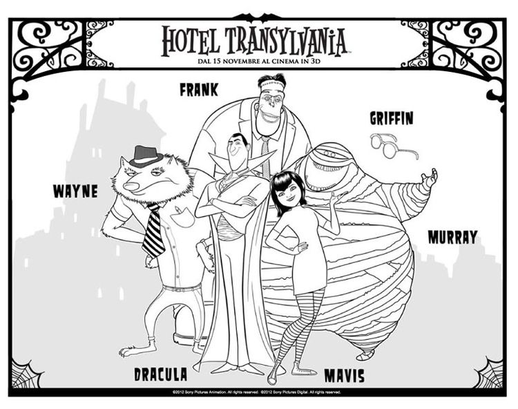 Coloring Page Hotel Transilvania Coloring Pages Hotel