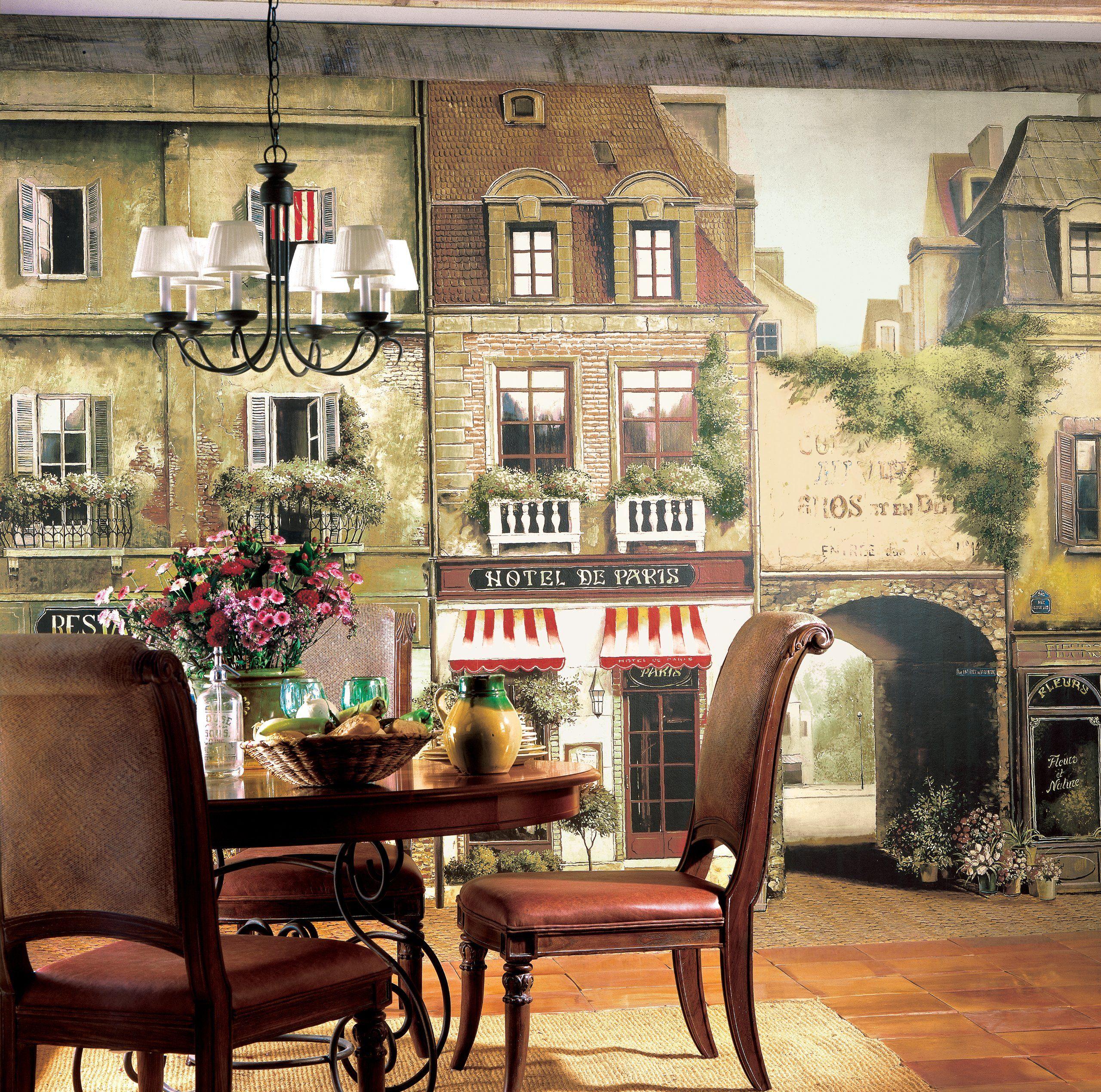 York Wallcoverings Europa II Paris Cafe Prepasted Mural