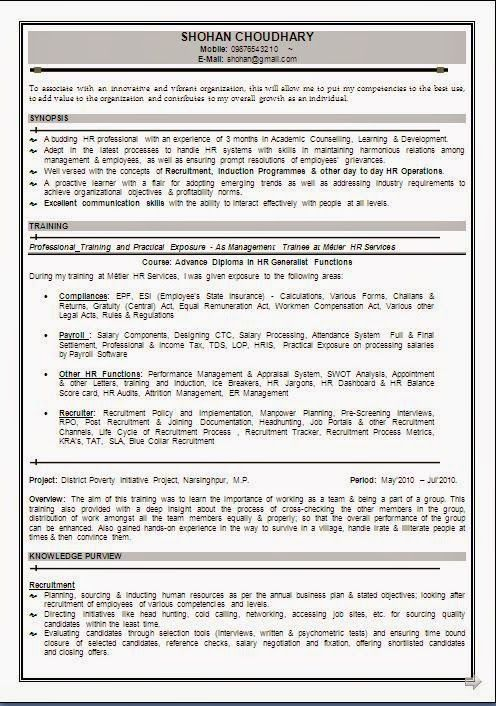 download free cv format Sample Template Example ofExcellent