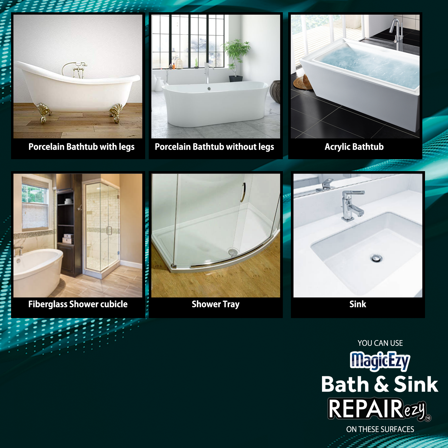 Fix Chips And Scratches On All These Surfaces Bath Sink Repairezy In 2020 Bathtub Repair Bathtub Repair Kit Bathtub