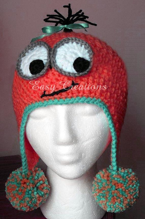 CROCHET PATTERN Googly Eye Hat earflap boy boys girl girls face ...