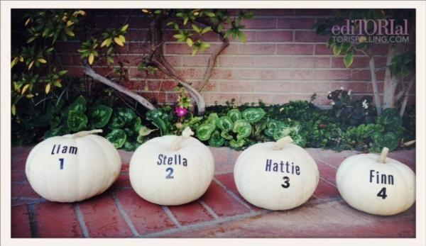 DIY Personalized White Pumpkins